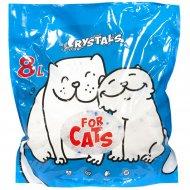 Силикагелевый наполнитель «For Cats» 8 л.