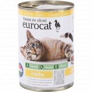 Консервы «Eurocat» для кошек с курицей в соусе, 415