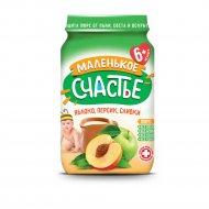 Пюре со сливками «Маленькое счастье» яблоко и персик, 180 г.