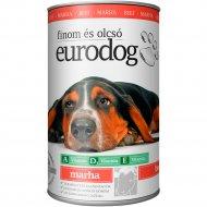 Консервы«Eurodog» для собак с говядиной, 1240 г.
