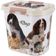 Контейнер для корма «Dogs» овальный, 10 л.