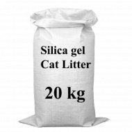 Наполнитель силикагелевый «Elegant Cat» клубника, 20 кг.