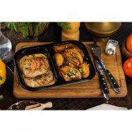 Медальоны из свинины с папричным соусом и картофельными дольками , 120/150/50 г.