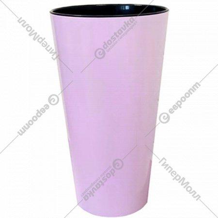 Кашпо для цветов «Gardenplast» со вставкой Камелия, 1.5 л, лиловый.