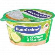 Сыр с творогом «Buonissimo» с огурцом и зеленью, 120 г.
