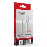 Кабель «Ginzzu» GC-550S, Lightning/USB, 1.2м, silver.