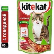 Корм для кошек «Kitekat» говядина в желе, 85 г.