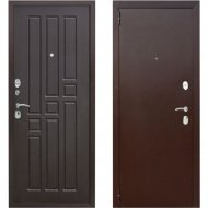 Дверь входная «Гарда» 8 мм, Медный антик/Венге, R, 205х86 см