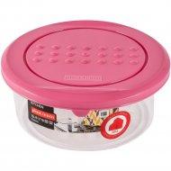 Емкость для хранения продуктов «Pattern» круглая, пурпурный, 0.5 л.