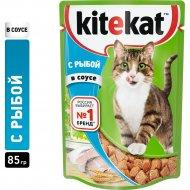Корм для кошек «Kitekat» рыба в соусе, 85 г