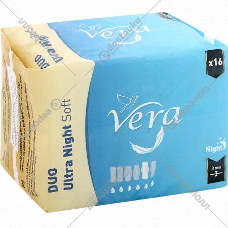 Гигиенические прокладки «Vera» Duo Ultra Night Soft, 16 шт.