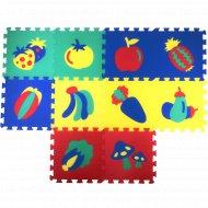 Коврики-пазлы с овощами и фруктами, 10 шт.