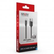 Кабель USB «Ginzzu» 2.0 micro GC-409B, TPE, 1.0 м, черный.
