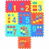 Коврики-пазлы с цифрами и формами, 10 шт.