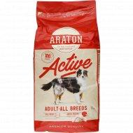 Корм для активных собак «Araton» с курицей, 15 кг.