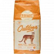 Корм для кошек «Arаton Outdoor» с курицей и индейкой, 15 кг