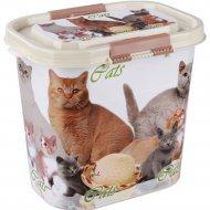 Контейнер «Cats» для корма, 10 л.