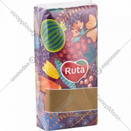 Платочки бумажные носовые «Ruta» 10 шт