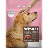 Сухой корм «Winner» для собак крупных пород с говядиной, 3 кг.