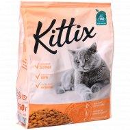 Сухой корм «Kittix» для взрослых кошек, с овощами и мясом, 350 г.