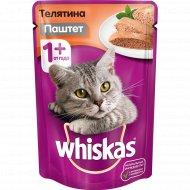 Мясной паштет «Whiskas» с телятиной, 85 г.