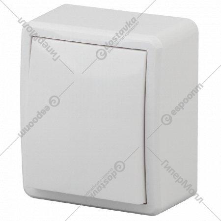 Выключатель «Эра» 11-1201-01, 10АХ-250В, ОУ, эксперт, белый.