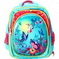 Рюкзак школьный «Бабочки на голубом» 41х32х24 см.
