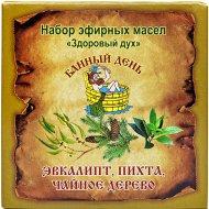 Набор эфирных масел «Банный день» эвкалипт, пихта, чайное дерево 30 мл