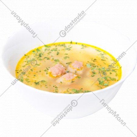 Суп картофельный с мясными фрикадельками, 1000 г.