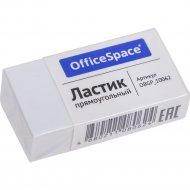 Ластик «OfficeSpace» прямоугольный, белый, 38х20х10 мм