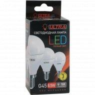 Лампа светодиодная «Ultra» LED, G45, 8.5 W, E14