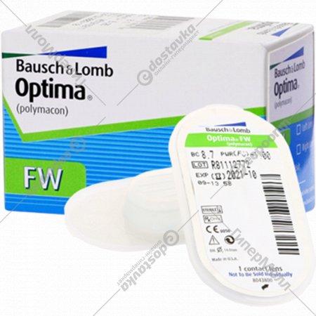 Линзы контактные мягкие «Optima FW» polymacon, r8,7/d-1,0.
