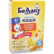 Каша молочная «Беллакт» морковно-бананово-рисовая, 250 г.