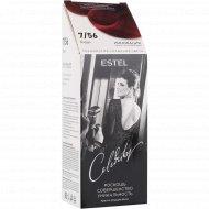 Краска-уход для волос «Estel celebrity» тон 7/56, бордо