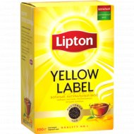 Чай черный «Lipton» Yellow Label Tea листовой, 100 г.