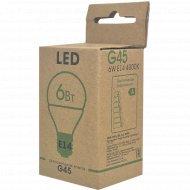 Лампа светодиодная диммируемая «ETP» G45 6W E14 4000K.