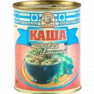 Консервы мясорастительная «Каша» перловая со свининой, 340 г.
