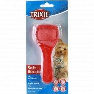 Мягкая щетка-пуходерка «Trixie» для ухода за шерстью, 6x13 см.