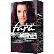 Крем-краска стойкая для волос «Fara Classic» тон 502а темно-рубиновый.