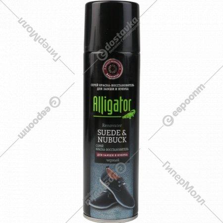 Спрей краска-восстановитель «Alligator» черный, 250 мл.
