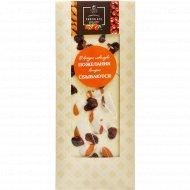 Шоколад белый «Hand-made» с клюквой и миндалем, 100 г.