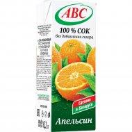 Сок «АВС» апельсиновый 200 мл.