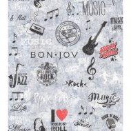 Обои бумажные водостойкие «Музыка».