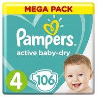 Подгузники «Pampers» Active Baby Dry, 9–14 кг, размер 4, 106 шт.