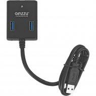 Хаб «Ginzzu» USB 3.0 4 port + adapter, GR-384UAB.