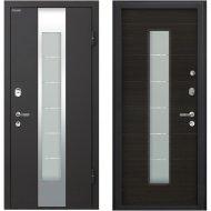 Дверь входная «МеталЮр» М35, Черный бархат/Эковенге, L, 205х96 см