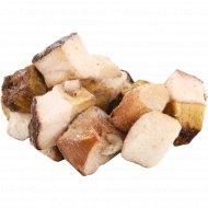Белый гриб, быстрозамороженный, резанный, 1 кг., фасовка 0.4-0.5 кг
