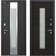 Дверь входная «МеталЮр» М35, Черный бархат/Эковенге, R, 205х96 см