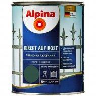 Эмаль «Alpina» Direkt auf Rost, Ral6005, зеленая, 0.75 л