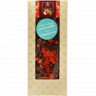 Шоколад темный «Hand-Made» 48.5%, с клубникой, 100 г.